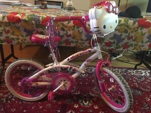 "Pink bike/Vélo rose Hello Kitty  16"""