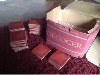 86 tiles - Decocer Cherry Spanish glass tiles unused