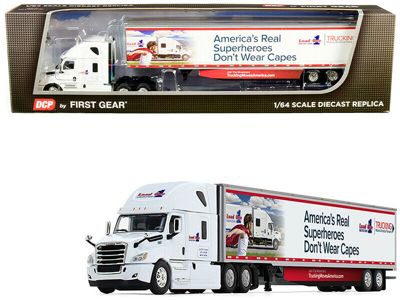 DCP/FIRST GEAR 2018 FREIGHTLINER CASCADIA 53' TRAILER LOAD ONE LLC 1/64 60-0587