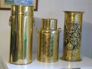 Decorative Brass Cannisters