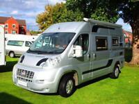 Fiat Ducato two berth campervan with centre dinette