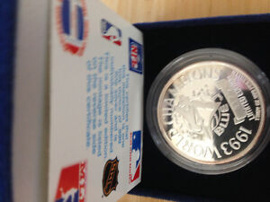 Blue Jays 1 onze .999 pure silver 1993 World Champions and more.