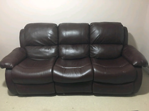 Leather reclining sofa 2seater + 3 seater