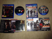 Ps4 games The division and metal gear solid phantom pain