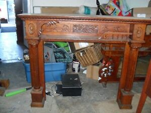 ANTIQUE FIREPLACE MANTLE-OVER 200 YEARS OLD