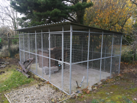 Large galvanised dog pen kennel box run cage puppy