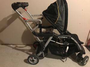 Baby toddler double stroller/ poussette pour bébé et enfant