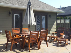Moving must sell Red Cedar patio furniture. Hand crafted locally