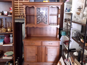 MUST BE OUT OF MY MIND  MAPLE CHINA CABINET ONLY $75. 00