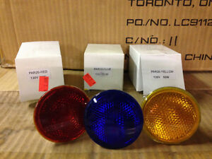 Large quantity of coloured PAR20 lamps
