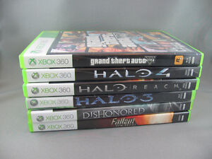 Six XBOX 360 Games - Includes GTA V and Halo 3,4 & Reach - $45