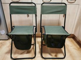 Fishing chairs foldable x2