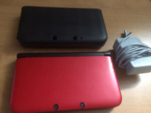 Red 3DS XL w/ Charger & Case - Good Condition!