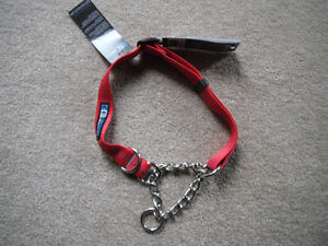 """NEW Canine Equipment Martingale 1"""" Collar (red or royal)*L or XL"""