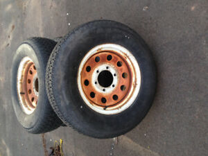 225/75r15 Trailer tires and rims 6x5.5 bolt pattern