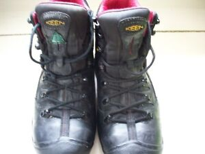 Mens' Keen Hamilton CSA Black Leather Boots Size 8.5