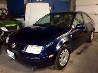 2002 Volkswagen Jetta, Clean Title, 5spd, Low Low kms! Safetied