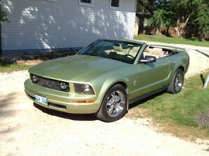 2006 Mustang Conv. V6, rare lime clearcoat color, mint, low kms