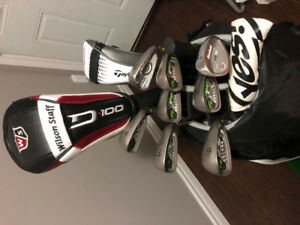 Bag of full golf set - Ping/Taylormade/Wilson staff clubs -right