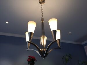 Chandelier (Brushed Stainless with Polished Accents)
