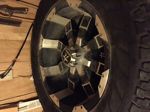 Doge 20 inch rims with 35 inch tires 5 bolt