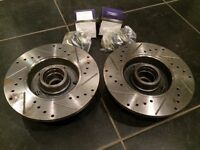 Mk3 Golf VR6 Drilled and Grooved Rear Brake Discs.