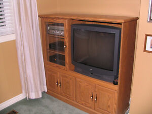 RCA Colour T.V. with Remote, Cabinet, Speakers and Components