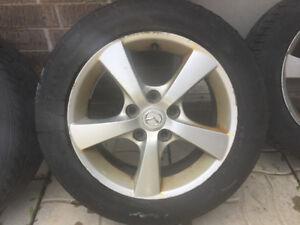 """Mag 16"""" Mazda3 +pneus d'été - Mazda3 Mags 16 inch + summer tires"""
