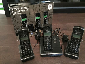 GE Digital Home Phone, set of 3