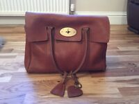 Oak Natural Leather Mulberry Bayswater Good Condition