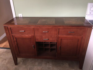 Bar Style Dining Table (8 chairs) and Buffet