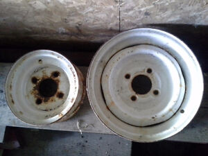"8"" and 12"" steel 4 bolt trailer rims"