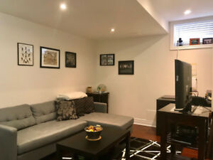 Furnished basement for rent in Burlington
