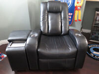 Leather Theatre Chair with Console - Ashley Furniture