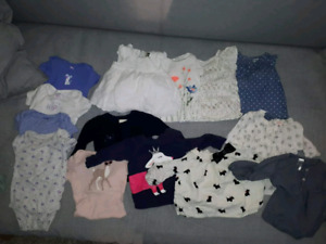 Baby girl 6 month tops lot with roots sweater