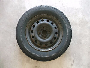 2 rims with used tires P175/70 R13