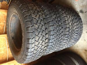 Snow tires on Steel Rims