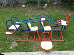 Kids Outdoor Dome Climber And Airplane Teeter-totter