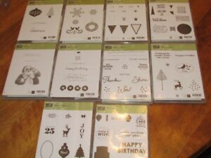 Brand new clear-mounted Stampin' Up stamp sets