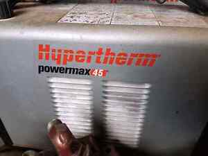 Hypertherm powermax 45 plasma cutter with consumables