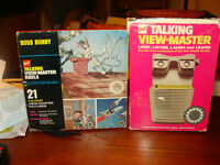 vintage 1969 talking viewmaster with 3 reels