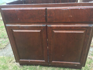Cherry Wood Used Kitchen Cabinets