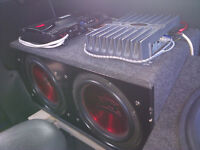 MTX SUBS WITH A ROCKFORD FOSGATE AMP 4 SALE