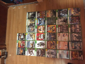 Xbox 360 Games, controllers and guitars