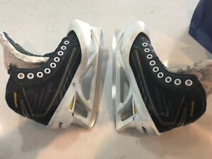 Bauer Supreme hockey goalie skates.