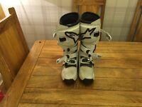 Alpine stars motocross boots size 8
