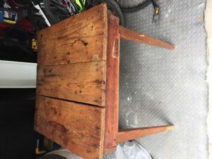 Antique rustic corner table from Marietta Georgia.
