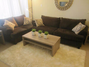 Like-New Modern Couch + Love seat sofa set  $480  ---->SOLD