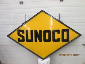 VINTAGE PORCELAIN SUNOCO SIGN