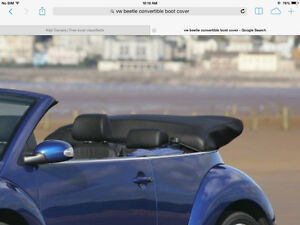 VW Beetle Covertible Roof Boot Cover